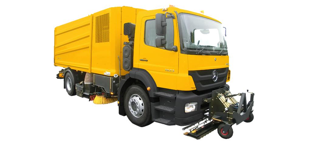 Lastbilsburna sopmaskiner från Bucher