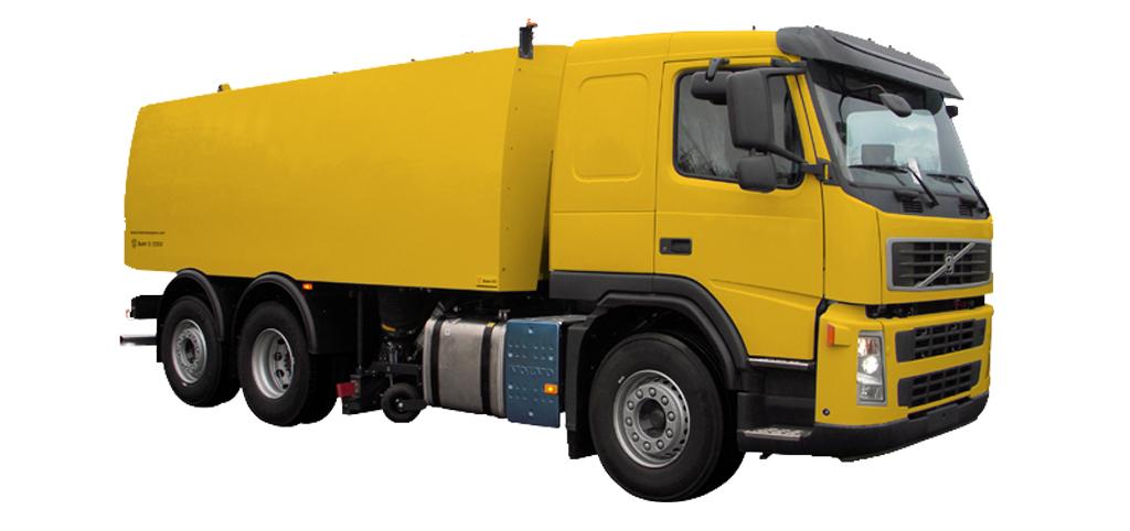 Lastbilsburen sopmaskin från Bucher